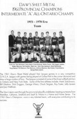 Daw's Sheet Metal 1961 Provincial Champions ...Team scan from brochure