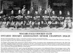 Niagara Falls Hockey Club 1924 - 1925  - Player Manager