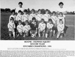 Boone - Dionnes Squirt Soccer Team Ontario Champions 1981