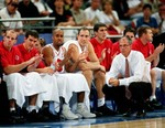 Jay Triano Coach of the Canadian Men's Basketball Team Sydney Olympics 2000