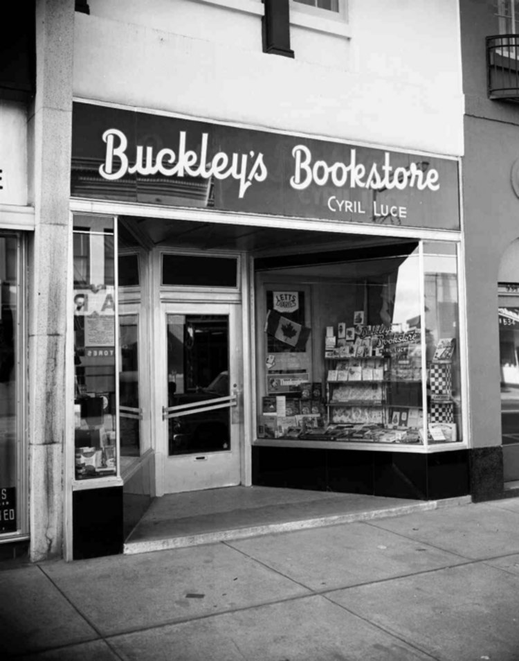 Buckley's Bookstore located on Queen Street (image/jpeg)