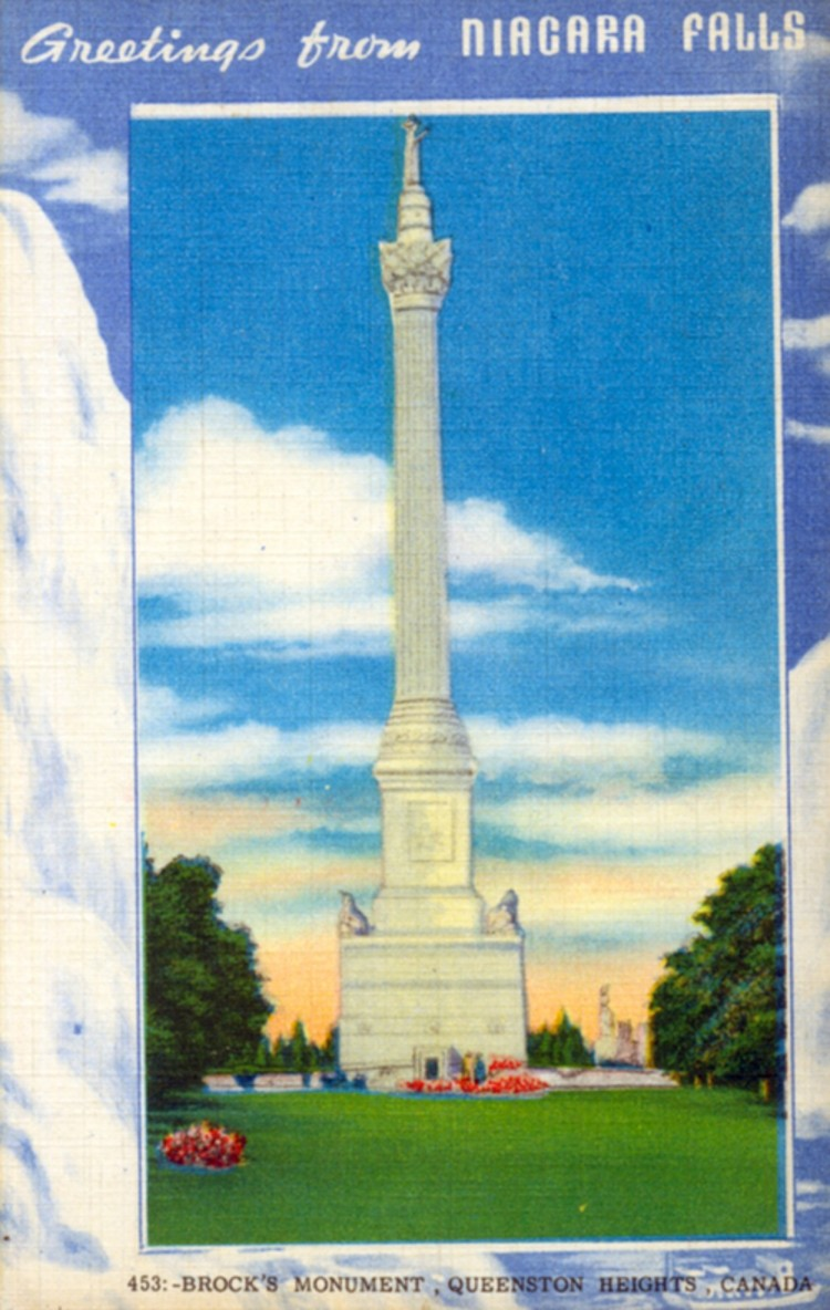 Greetings From Niagara Falls - Brock's Monument Queenston Heights (image/jpeg)