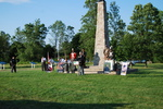(Thumbnail) Battle of Chippawa Commemorative Service 2011,  - Sherman Zavitz and Contingent at Momument (image/jpeg)