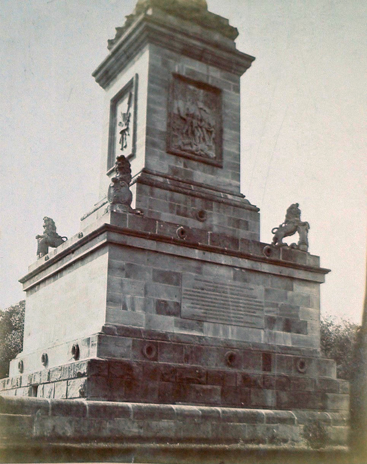 At the base of Brock's Monument, Queenston Heights (image/jpeg)