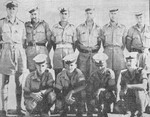 (Thumbnail) Group photograph of Dieppe veterans on manoeuvres in the Mediterranean during World War II (image/jpeg)