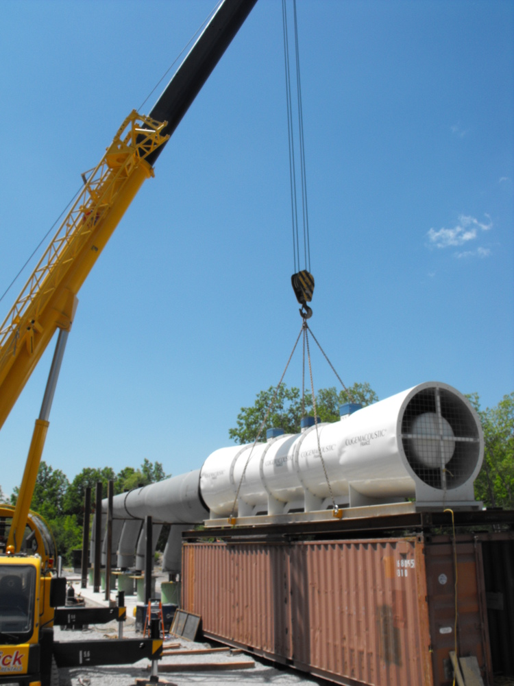Niagara Tunnel Project - Air filtration units being assembled on site. (image/jpeg)