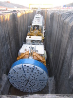 (Thumbnail) Niagara Tunnel Project - Big Becky onsite at the outlet of the tunnel. (image/jpeg)