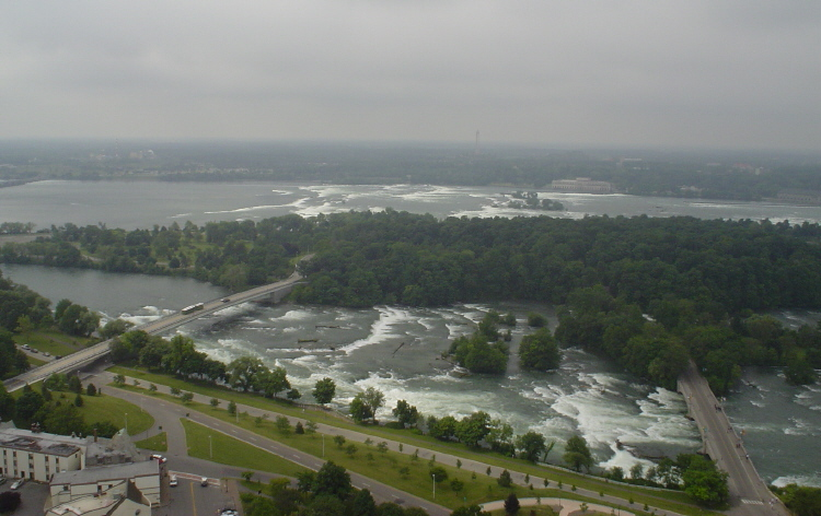 Aerial View of Goat Island and the Upper Niagara River (image/jpeg)