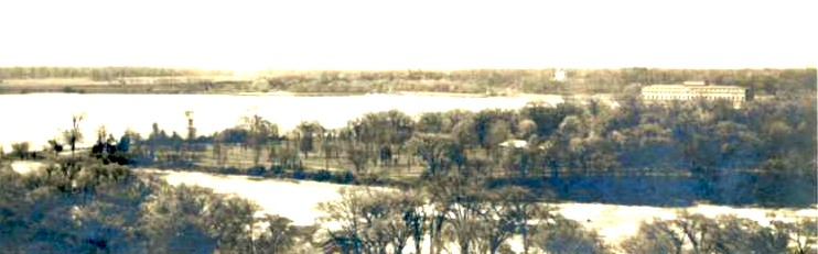Aerial view of the Upper Niagara River above the American Falls towards Luna and Goat Island (image/jpeg)