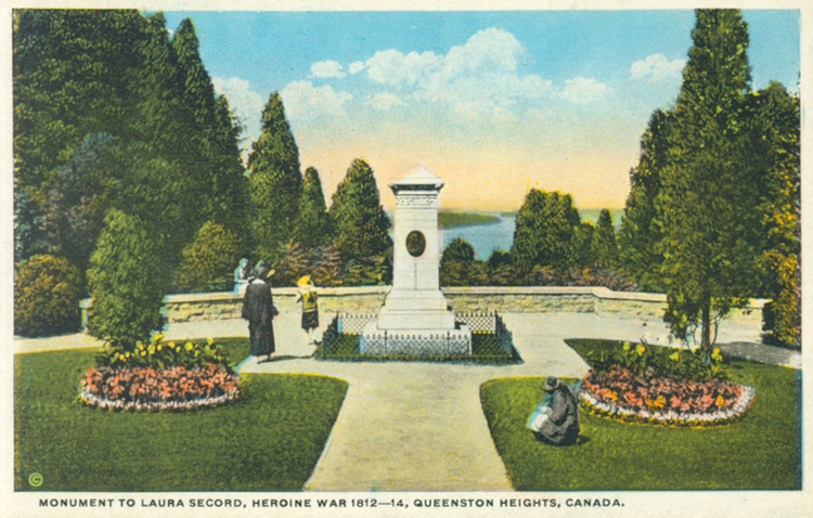 Monument to Laura Secord heroine War 1812 - 1814 Queenston Heights Canada (image/jpeg)