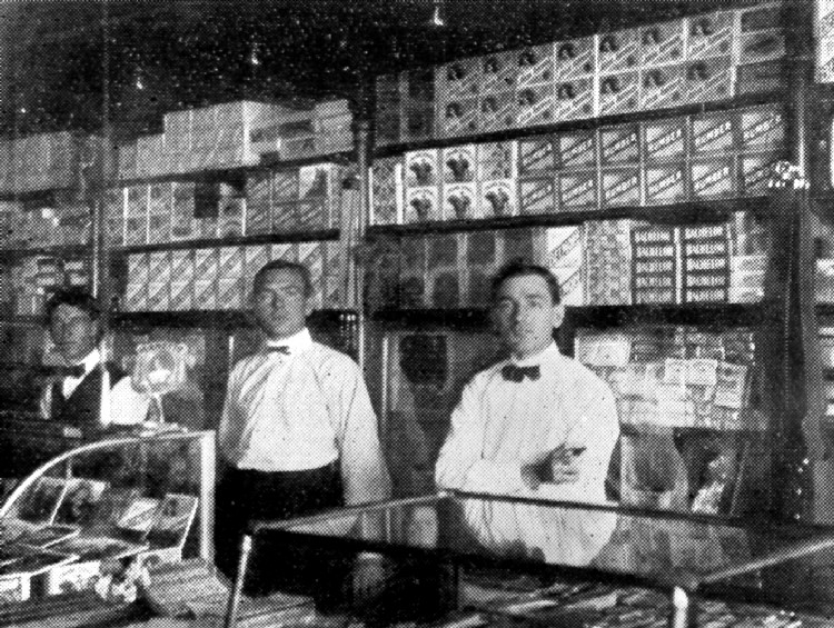 Interior of Louis Fischer Cigar Store Erie Ave (image/jpeg)