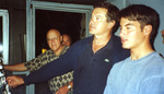 (Thumbnail) American actor Robert Urich and son Ryan; George Bailey in background (image/jpeg)