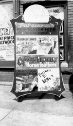 (Thumbnail) Advertising billboard for the Capitol Theatre 1932 announcing Paramount's new season (image/jpeg)
