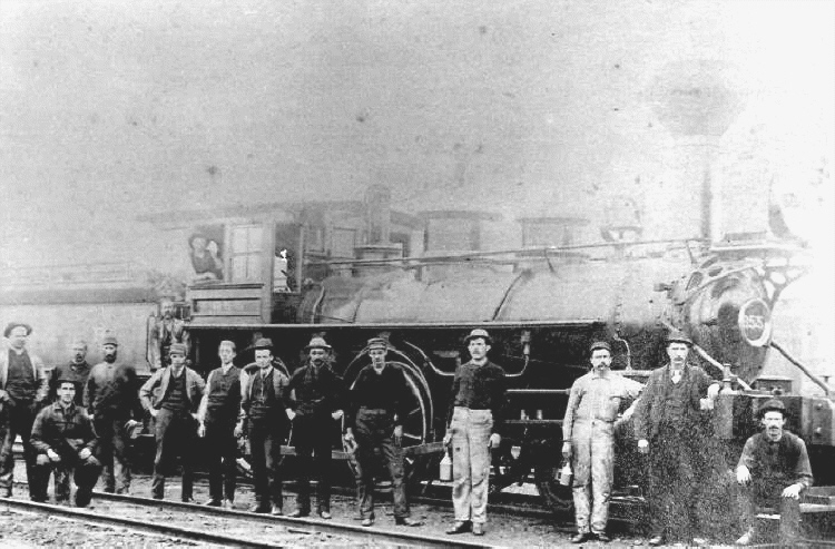 Unidentified Men Standing by a Steam Train (image/jpeg)