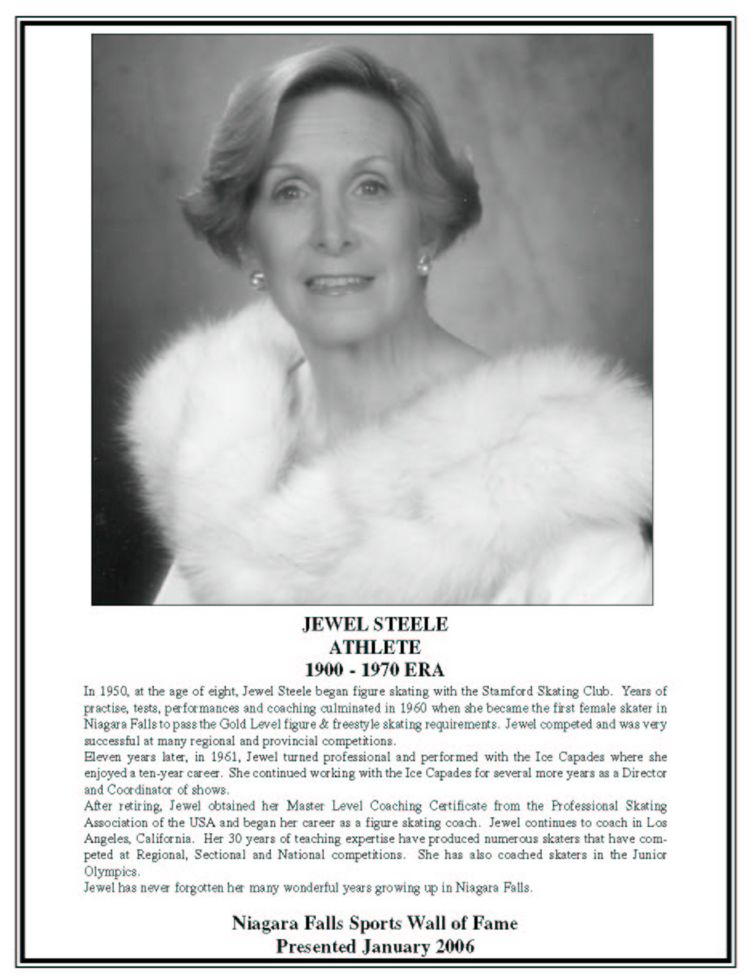 Niagara Falls Sports Wall of Fame - Jewel Steele - Figure skating - 1900 - 1970 era (image/jpeg)