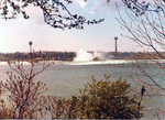 (Thumbnail) Upper Niagara River at the Brink of the Horseshoe Falls, Skylon and Minolta Towers in background (image/jpeg)