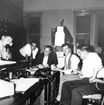 (Thumbnail) Ron Yorke, Bill Gough, Victor Fraser, Erle Glennie and Jack Hodges in the control room of the Toronto Power Plant (image/jpeg)