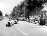 (Thumbnail) 4th annual Optimist Club Soap Box Derby 1961 racing down Drummond Hill (image/jpeg)
