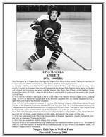 (Thumbnail) Niagara Falls Sports Wall of Fame - Dino M. Serra Athlete Hockey - 1971 - 1990 Era