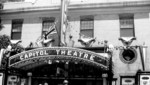 (Thumbnail) Capitol Theatre Queen St decorated with flags and bunting (image/jpeg)