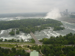 (Thumbnail) Aerial View of Goat Island, Niagara River Rapids, and Both Falls (image/jpeg)