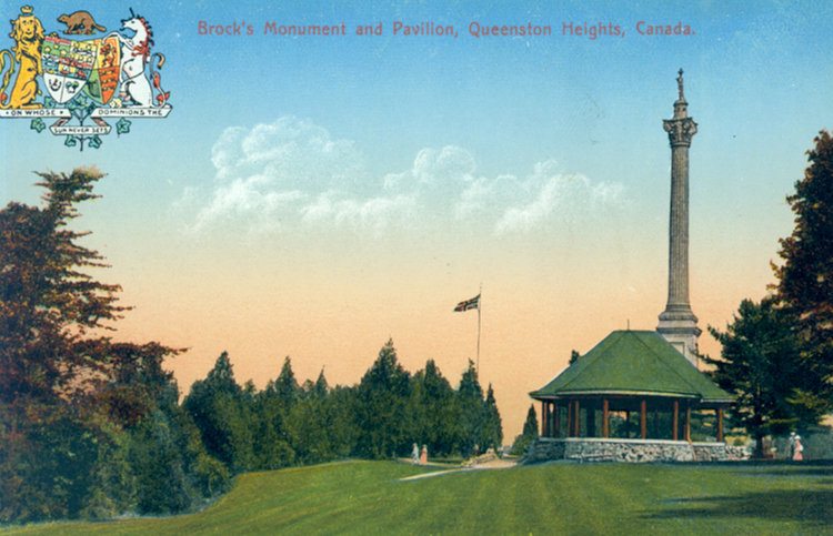 Brock's Monument and pavilion Queenston Heights Canada (image/jpeg)