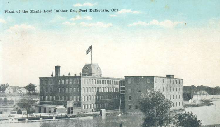 Plant of the Maple Leaf Rubber Co [Company] Port Dalhousie Ont [Ontario] (image/jpeg)