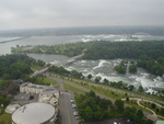 (Thumbnail) Aerial View of Goat Island, Niagara Falls, New York, and the Upper Niagara River (image/jpeg)