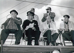 (Thumbnail) 7th annual Soap Box Derby 1964 - judges on the dias at the finishing line at North Street and Drummond Hill  (image/jpeg)