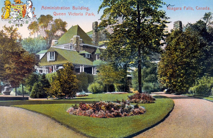 Administration building Queen Victoria Park Niagara Falls Canada (image/jpeg)