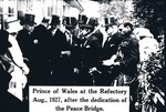 (Thumbnail) HRH Edward Prince of Wales at the Refectory Queen Victoria Park August 1927, after the dedication of the Peace Bridge (image/jpeg)