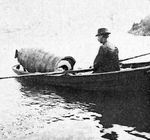 (Thumbnail) Annie Taylor Starting for the Upper Rapids to Risk her life in the Cataract of Niagara (image/jpeg)