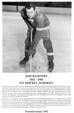 (Thumbnail) Niagara Falls Sports Wall of Fame - Max Kaminsky 1911 - 1961 Athlete Baseball (image/jpeg)