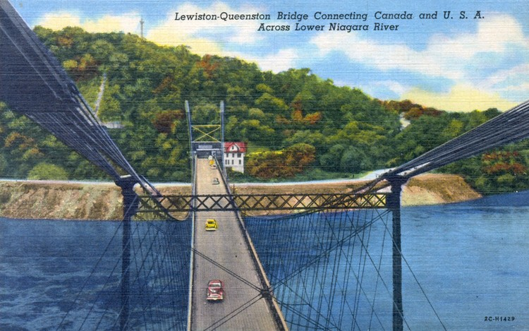 Lewiston-Queenston Bridge connecting Canada and U.S.A. [United States of America] across Lower Niagara River (image/jpeg)