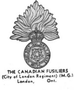 (Thumbnail) Insignia of the Canadian Fusiliers City of London Regiment - London Ontario (image/jpeg)