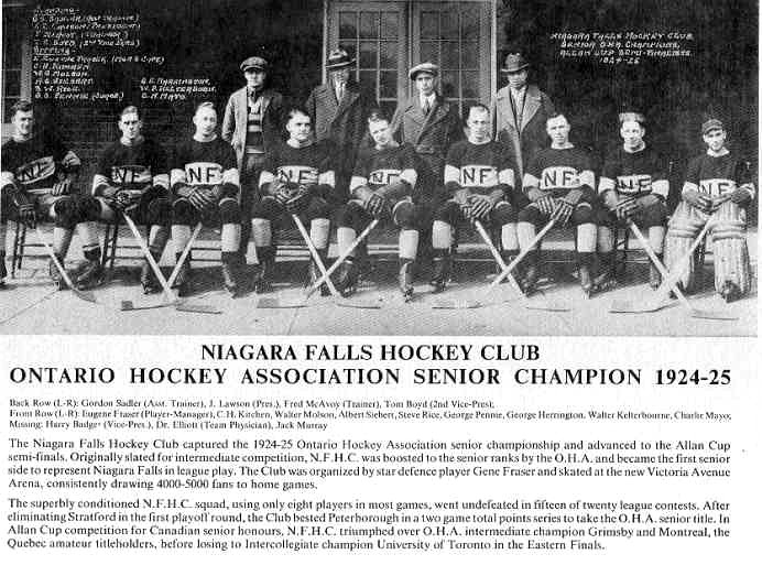 Niagara Falls Sports Wall of Fame - Niagara Falls Hockey Club 1924 1925 (image/jpeg)