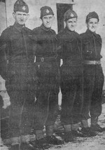 """(Thumbnail) Sergeant J J """"Pops"""" Boutilier with sons Private Gordon and Corporals Douglas and Bill (image/jpeg)"""