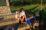 (Thumbnail) Battle of Chippawa Commemorative Service, 2011 - Children Sitting on Steps of Monument (image/jpeg)
