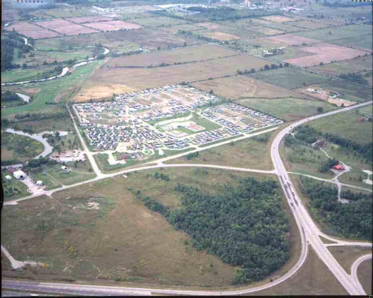 An aerial view of the Black Creek Retirement Parks Ltd. - 3033 Townline Rd. ( Netherby & QEW ) (image/jpeg)