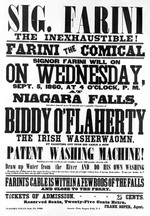 (Thumbnail) Advertisement of Stunt to be Performed by Farini - 1860 (image/jpeg)
