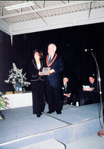 (Thumbnail) 16th annual Sports Wall of Fame Induction Ceremony - Mayor Ted Salci presenting award to Carol Ann Biamonte Figure Skating (image/jpeg)