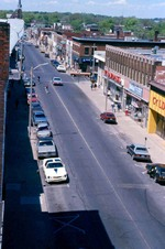 (Thumbnail) Aerial view - looking west down Queen Street (image/jpeg)