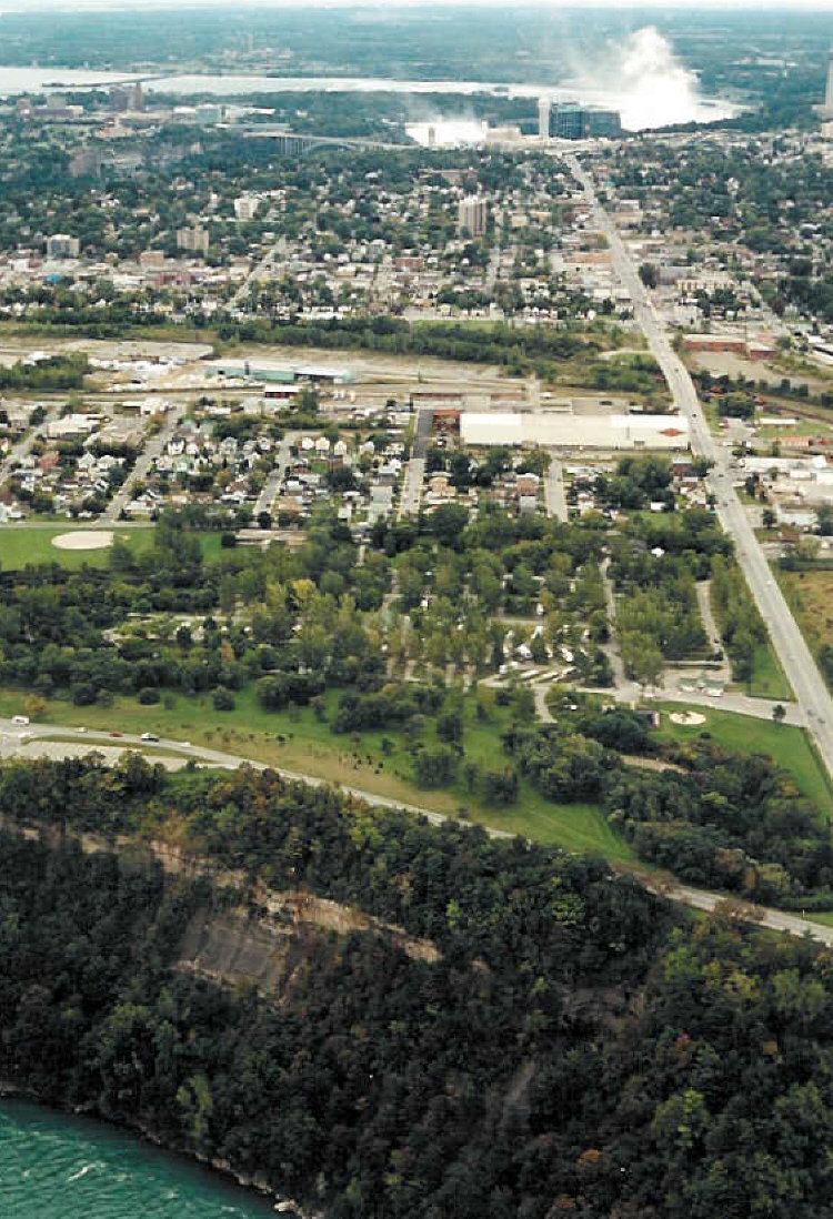 Aerial View of a Campground Across from Niagara Helicopters (image/jpeg)