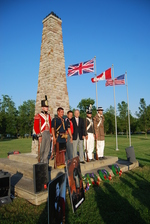 (Thumbnail) Battle of Chippawa Commemorative Service, 2011 - Contingent at Monument after Service (image/jpeg)
