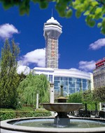 (Thumbnail) Casino Niagara - exterior viewed from Falls Avenue, Skyline Brock Hotel also visible (image/jpeg)