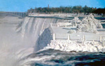 (Thumbnail) Brink of the Bridal and American Falls in Winter with the Rainbow Bridge in the background (image/jpeg)