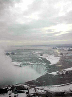 (Thumbnail) Aerial view of the Horseshoe Falls and the Upper Niagara River  from the 30th floor of the Embassy Suites Hotel (image/jpeg)