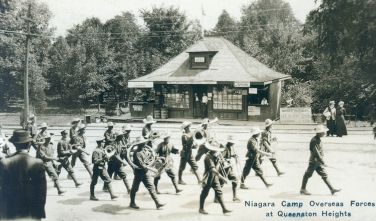 Canadian Expeditionary Forces Battalion Band Niagara Park and River Railway Station Queenston Heights (image/jpeg)