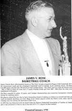 (Thumbnail) Niagara Falls Sports Wall of Fame - James V Rose Basketball Coach 1951 - 1970 era (image/jpeg)