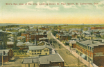 (Thumbnail) Bird's eye view of the city looking down St Paul Street St Catharines Ont [Ontario] (image/jpeg)